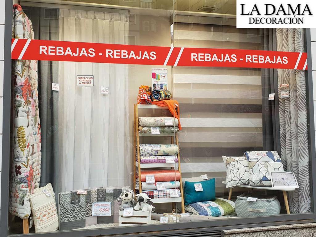 Rebajas en cortinas ropa textil y decoraci n la dama for Tiendas de decoracion en zaragoza