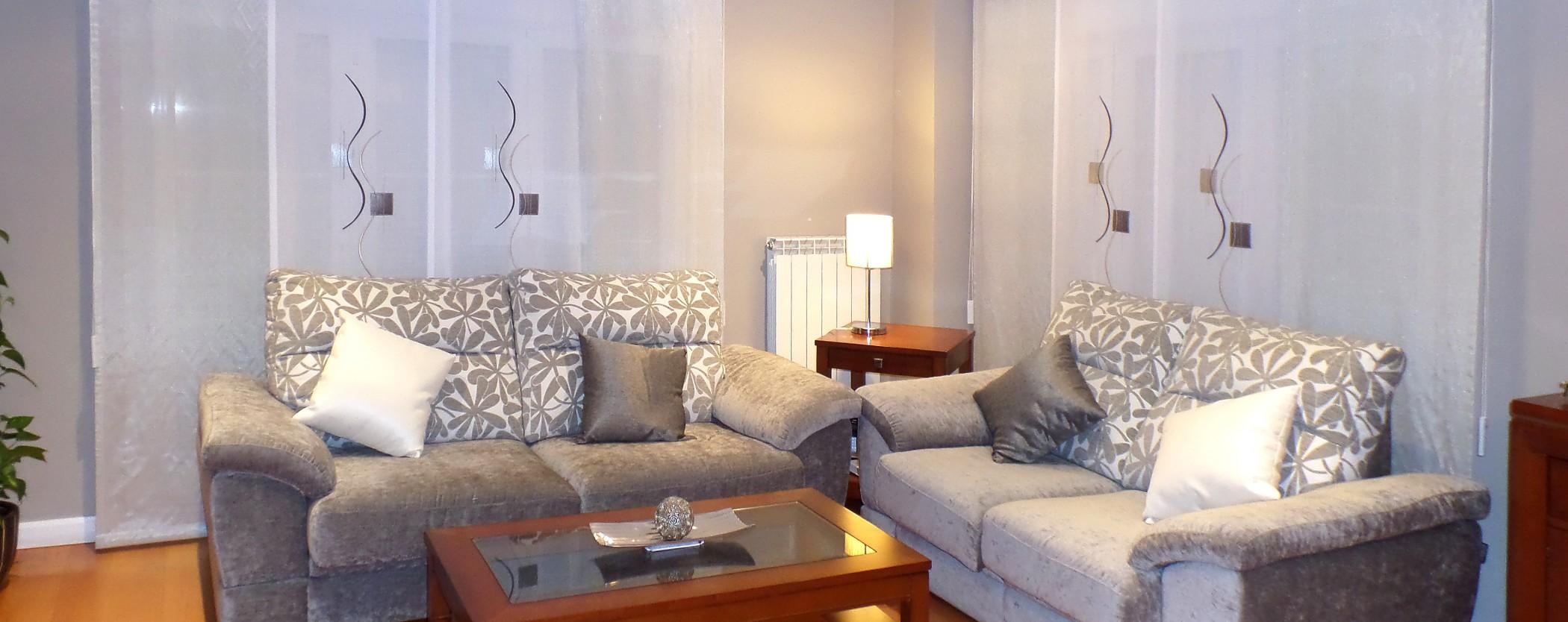 Paneles japoneses salon cortinas modernas la dama - Cortinas para salon estilo moderno ...