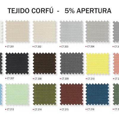 Colorido tejido screen Corfú