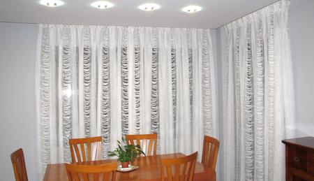 Cortinas para sal n la dama decoraci n for Tipos de cortinas para salon