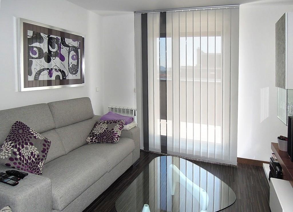 Cortinas verticales screen decorativas zaragoza for Cortinas grises