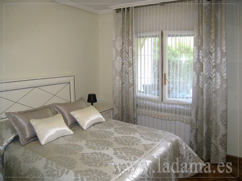 Estores con caidas y dobles estores la dama decoraci n Imagenes de cortinas modernas para dormitorios