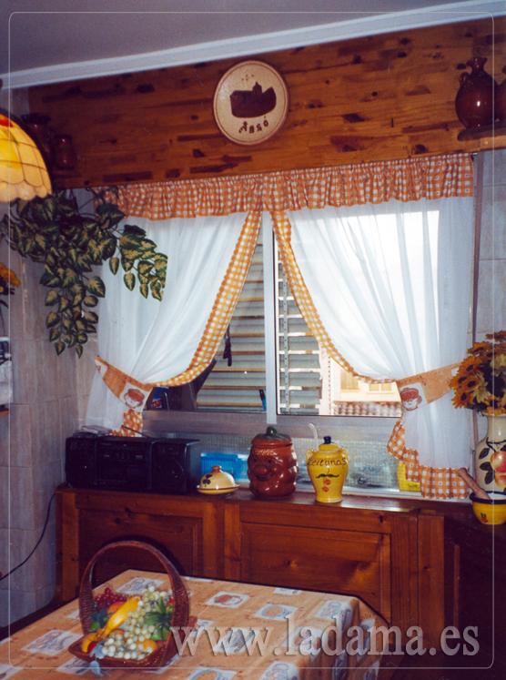 Cortinas de cocina en zaragoza for Cortinas para muebles de cocina rustica