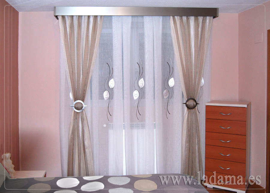 Cortinas modernas sal n y dormitorio for Cortinas para dormitorio matrimonio fotos
