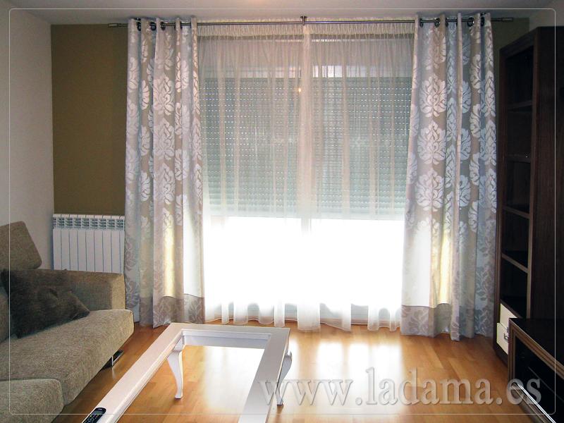 Cortinas de ollaos en zaragoza for Tipos de cortinas para salon