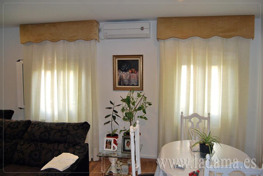 Volantes para cortinas de estilo cl sico la dama decoraci n - Cortinas y visillos confeccionados ...