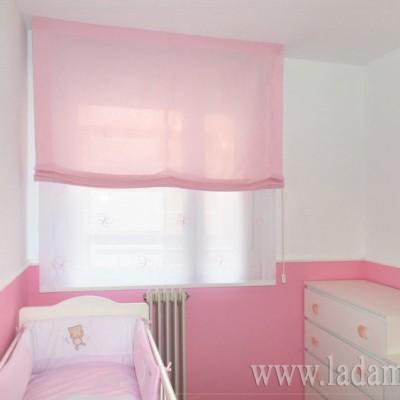 Doble estore para habitación infantil
