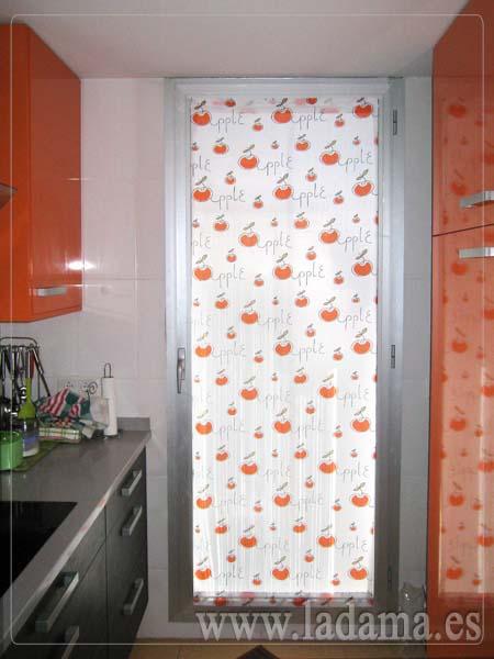 Visillo Puerta Cocina La Dama Decoracion - Cortinas-para-puerta-de-cocina