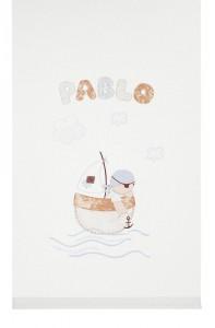 Panel de la colección Austin en barco. Telas infantiles para cortinas y ropa de cama de niño