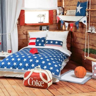 Habitación adolescente decorada con Telas Juveniles Dreams Marino