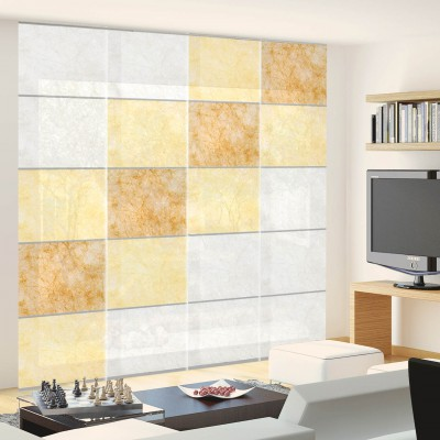 Panel Japonés Papyrus Tropic (natural/amarillo/naranja)