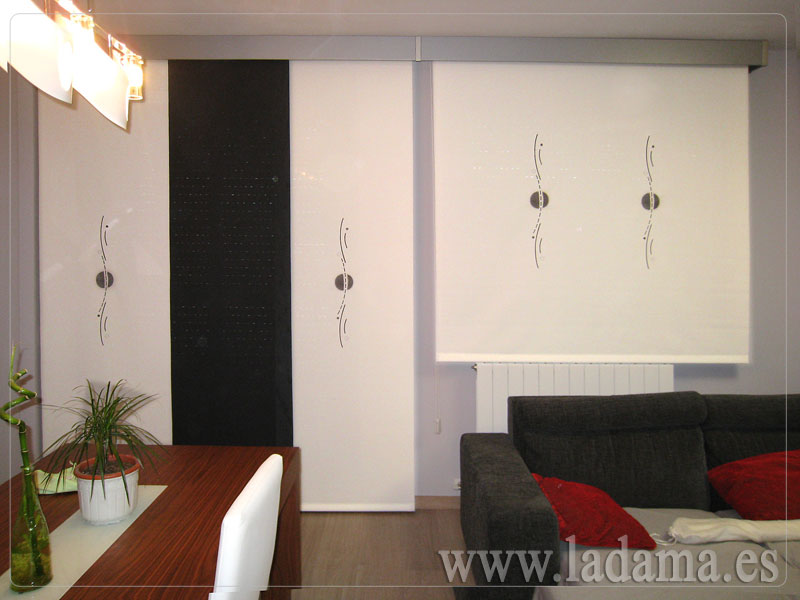 Cortinas enrollables de screen bordado en zaragoza - Estores cocina modernos ...