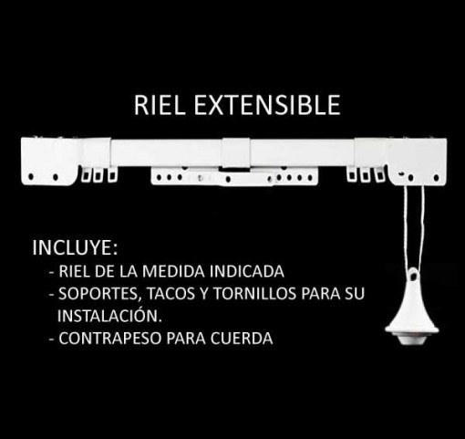 Rieles Extensibles para Cortinas con Cuerdas