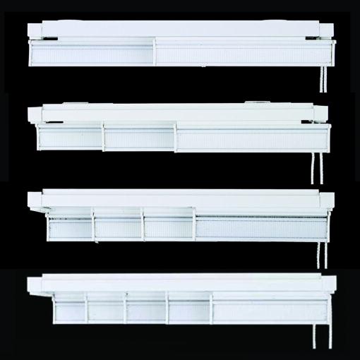 Rieles de panel japonés blanco