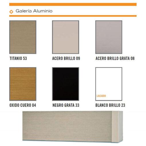 Colorido Galerías Aluminio