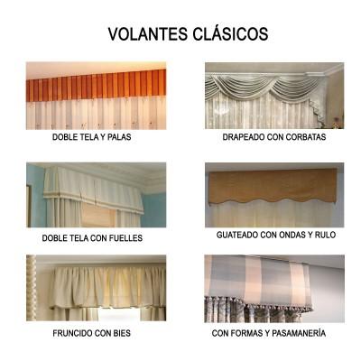 Volantes para cortinas de estilo clásico