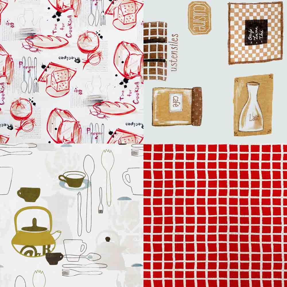 Telas de cortinas para cocina la dama decoraci n - Cortinas de tela para cocina ...