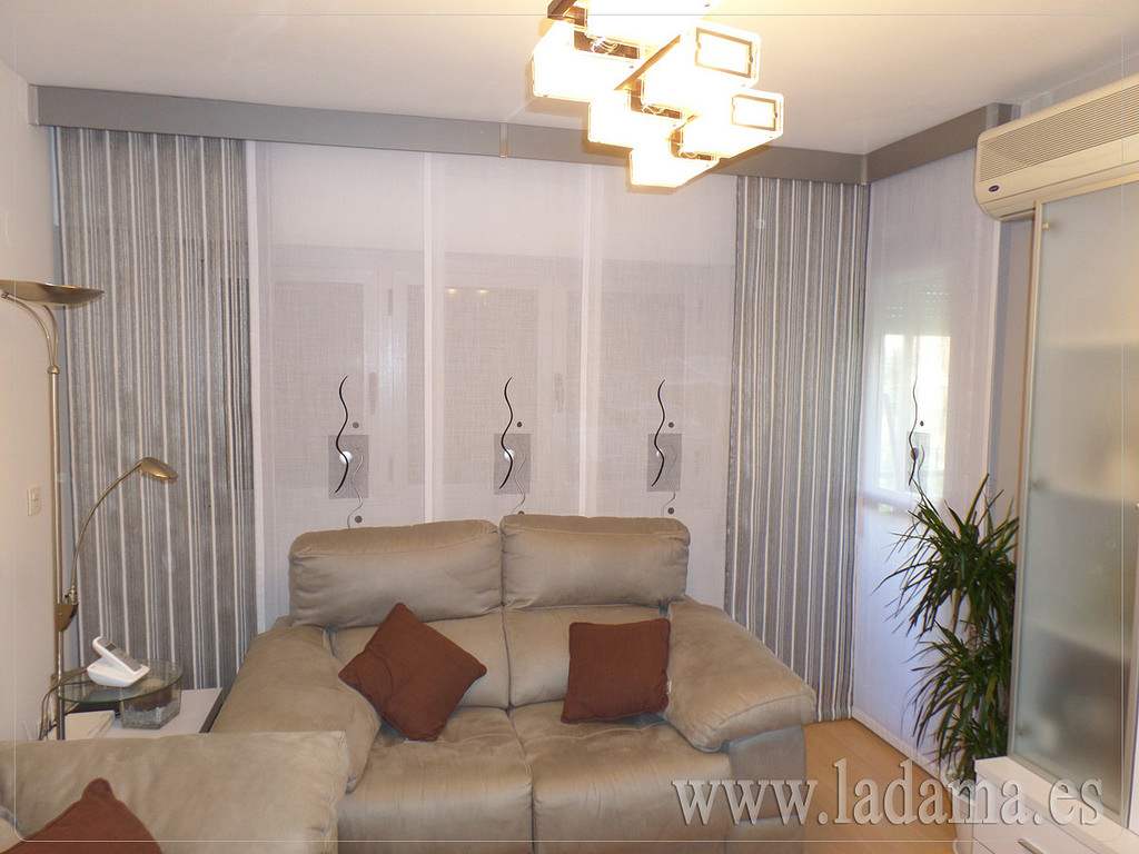 Galer as decorativas de madera la dama decoraci n for Tipos de cortinas para salon