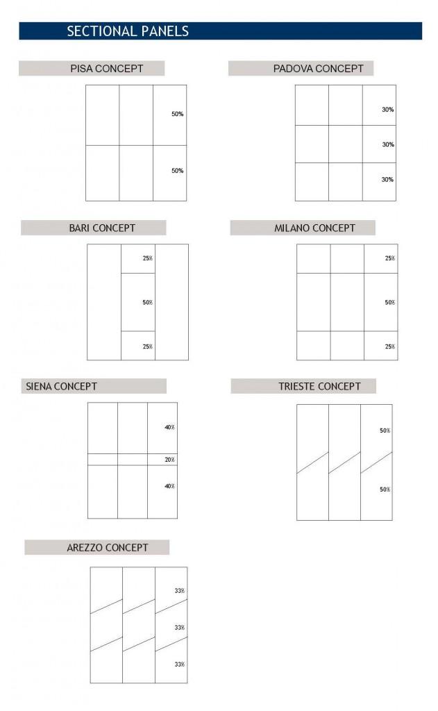 Sectional Panels de la Colección Destiny