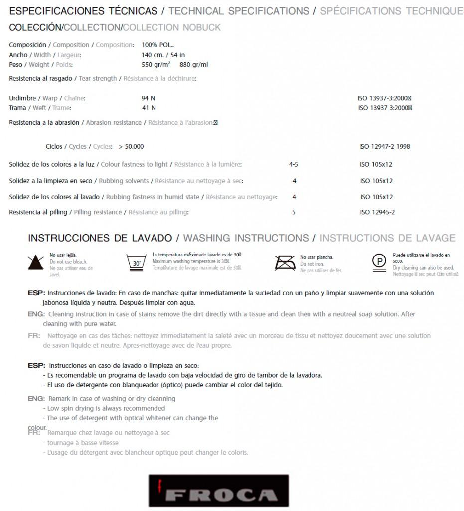 CARACTERISTICAS TAPICERÍAS POLIPIEL NOBUCK