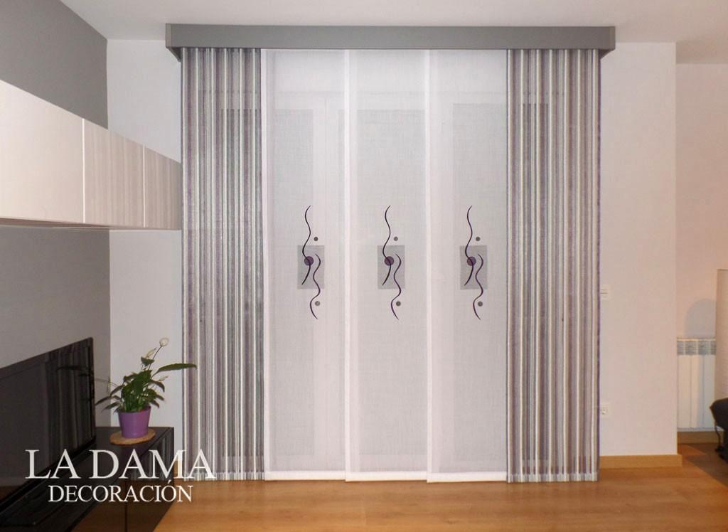 Paneles japoneses bordados en zaragoza - Paneles chinos cortinas ...