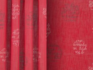 Tejido MORA Destiny and Design rojo