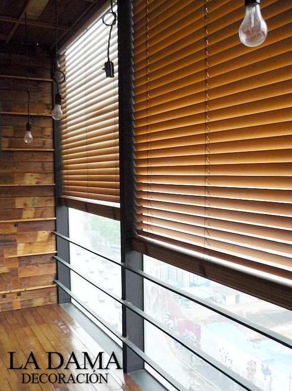 Cortinas venecianas de madera hygge la dama decoraci n - Cortinas venecianas madera ...