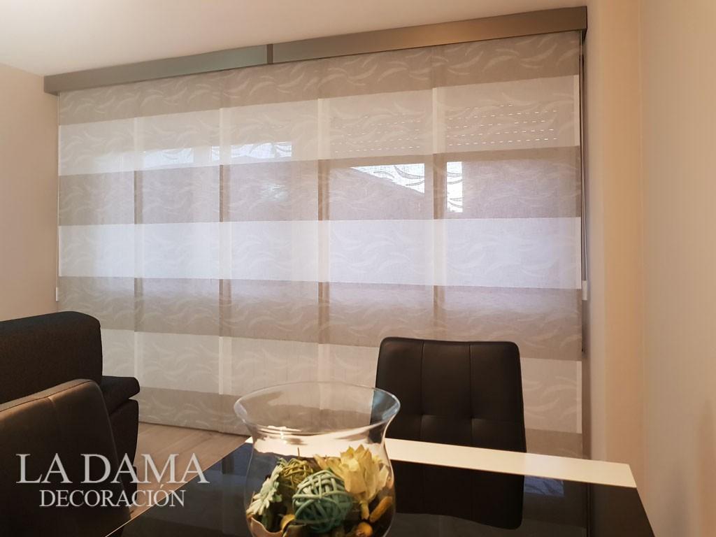 Paneles japones de tela horizontal