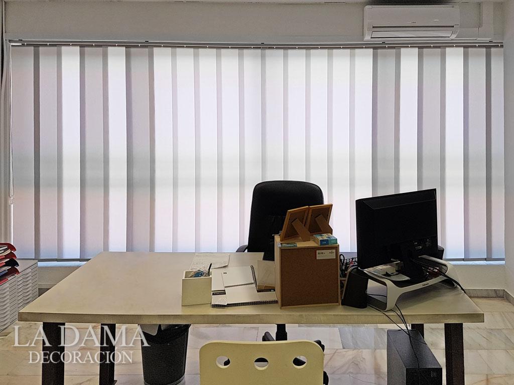 Cortinas verticales para oficina la dama decoraci n - Cortinas verticales para oficinas ...