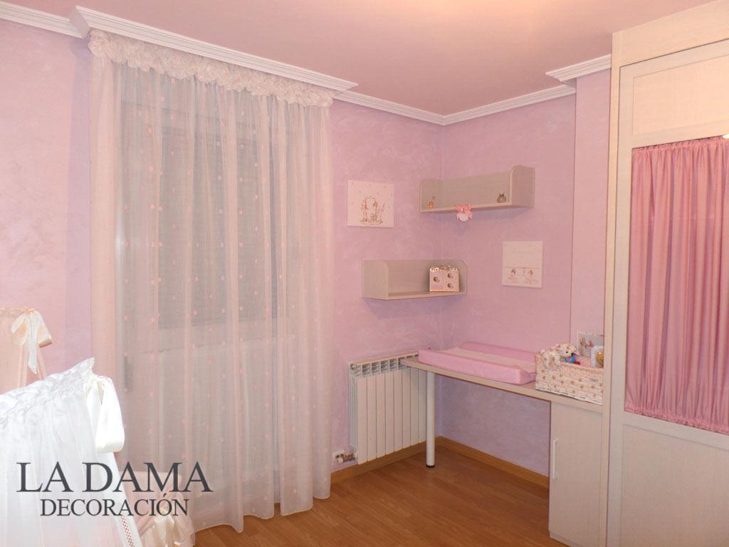 Cortina para dormitorio de beb la dama decoraci n - Cortinas dormitorio bebe ...