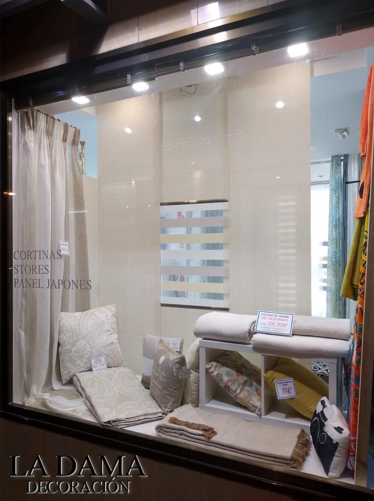 Escaparate de Tienda de Cortinas en Delicias