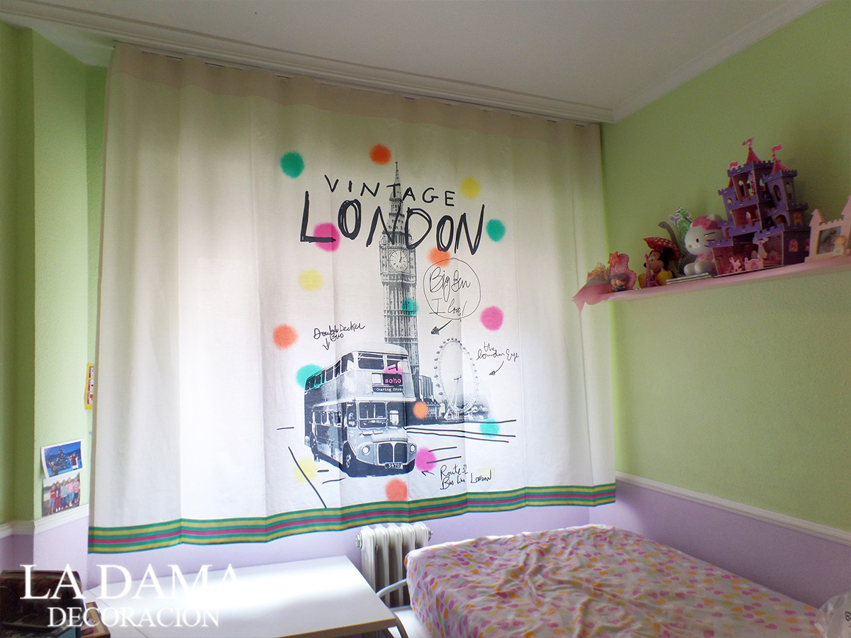Cortina London para Dormitorio Juvenil