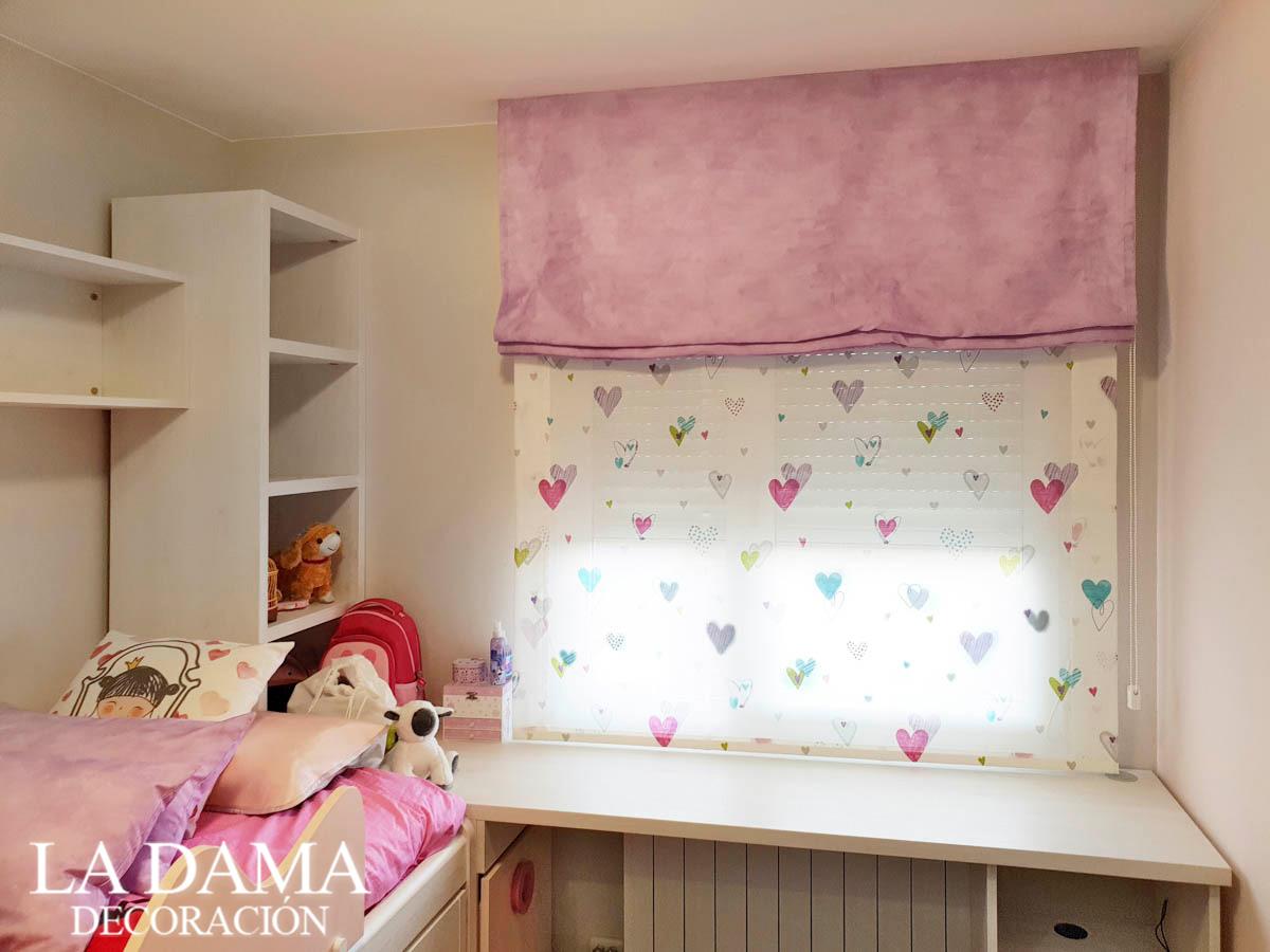 Estor Rosa para Dormitorio Infantil