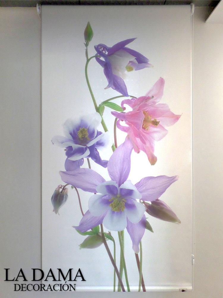 Estores Enrollables de Flores